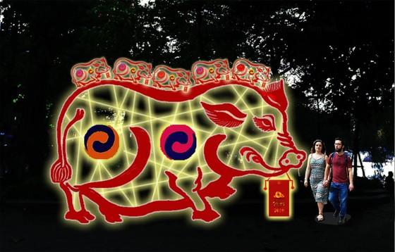Hồ Gươm lung linh với nhiều công trình điêu khắc ánh sáng ảnh 3
