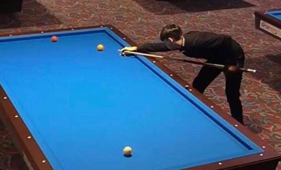 Cơ thủ trẻ Lê Hoàng Kim gây ấn tượng ở giải Billiards thế giới ảnh 2