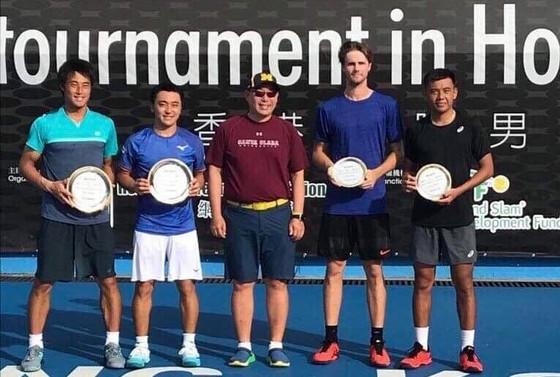 Lý Hoàng Nam giành á quân đôi nam giải quần vợt Men's Futures Hong Kong ảnh 1
