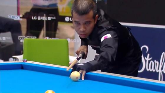 Trần Quyết Chiến có chiến thắng ngoạn mục lọt vào tứ kết giải Billiards LG Hàn Quốc ảnh 1