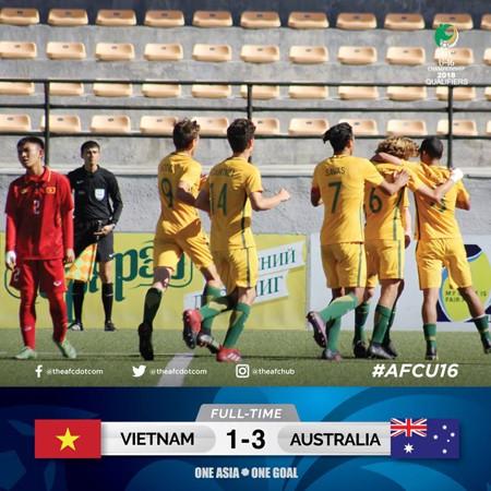 Thua U16 Australia, Việt Nam chỉ trông chờ vào suất vớt