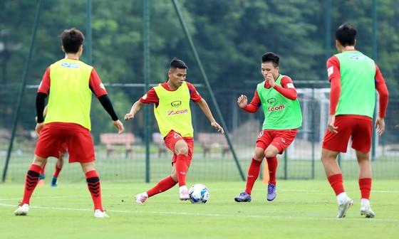 """Đội tuyển Việt Nam hướng đến mục tiêu giành 3 điểm trong trận đấu tới. (Ảnh: MINH HOÀNG"""""""