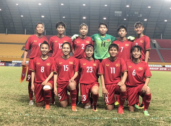Thắng Myanmar, đội nữ Việt Nam gặp Australia ở bán kết giải Đông Nam Á 2018 ảnh 1