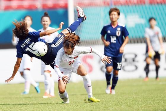 Đội nữ Việt Nam không thể gây bất ngờ trước Nhật Bản. Ảnh: Đoàn Nhật