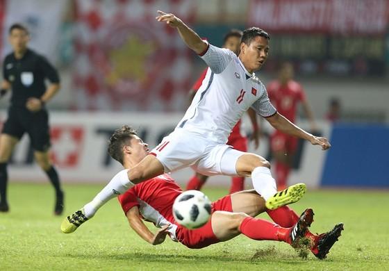 Anh Đức được xem là ứng viên cạnh tranh danh hiệu Chiếc giày vàng tại AFF Cup 2018. Ảnh: DŨNG PHƯƠNG