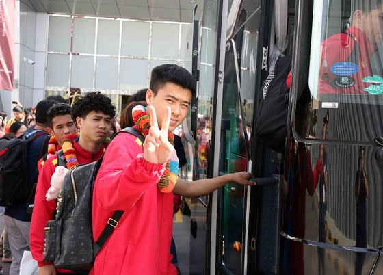 VCK Asian Cup 2019 đã bắt đầu với các tuyển thủ Việt Nam. Ảnh: ĐOÀN NHẬT