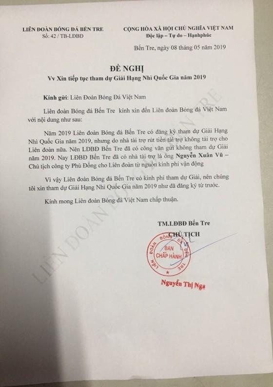 Bến Tre xin không tham dự giải hạng Nhì 2019 ảnh 1