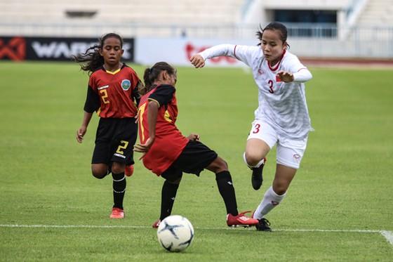 Đội Việt Nam giành chiến thắng 16-0 trước Timor Leste. Ảnh: Đoàn Nhật