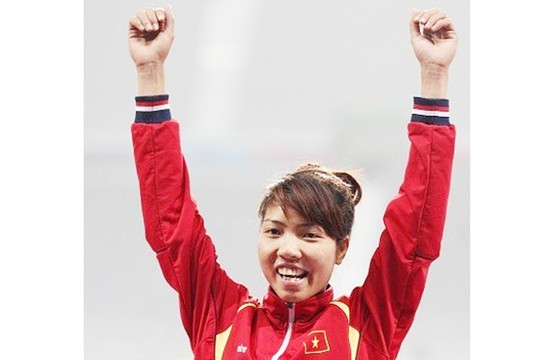 Bùi Thị Thu Thảo có HCV vô địch châu Á đầu tiên trong sự nghiệp. tác giả: Quang Thắng