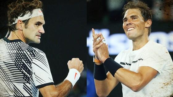 Federer và Nadal.