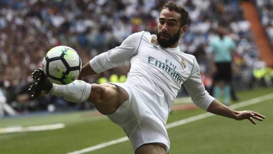 Dani Carvajal trong màu áo Real Madrid. Ảnh: EPA.