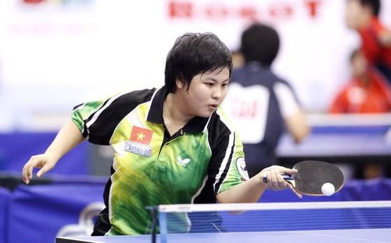 Tay vợt Mai Hoàng Mỹ Trang (ảnh: Cao Tường)
