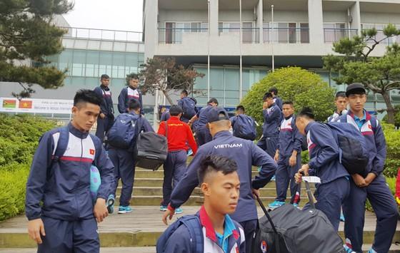 U20 Việt Nam đã được Ban tổ chức đưa về nghỉ ngơi tại Trung tâm thể thao Mokpo. Ảnh: VFF