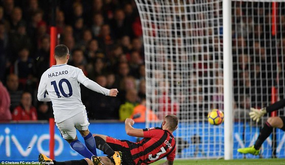 Chelsea (áo trắng) trong trận thắng Bournemouth 1 - 0