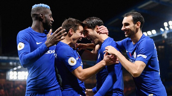 Chelsea trong trận thắng Manchester United 1 - 0