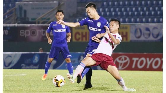 Gần đây ở Cúp QG, chủ nhà B.Bình Dương từng thắng Sài Gòn với tỷ số 2-1. Ảnh: Lê Minh