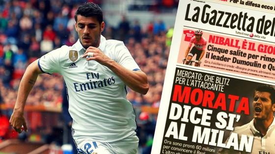 Morata là mục tiêu số 1 của Rossoneri.