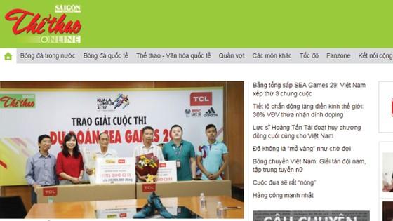 SGGP Thể Thao phiên bản online: thethao.sggp.org.vn.