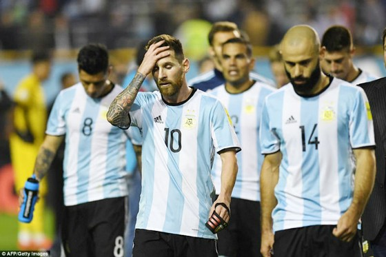 Nỗi thất vọng cùng cực của các ngôi sao Argentina. Ảnh: Getty Images