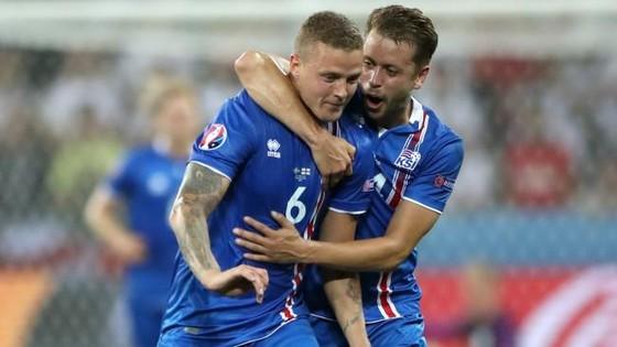 Iceland đã xuất sắc tiến gần đến suất trực tiếp ở bảng I. Ảnh: PA