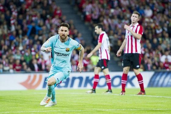 Messi lại chói sáng. Ảnh: Getty Images