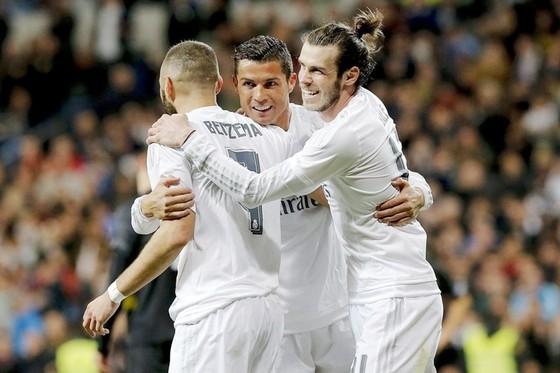 Bộ ba BBC nhiều khả năng sẽ ra sân trong cuộc đối đầu với Atletico. Ảnh: Getty Images