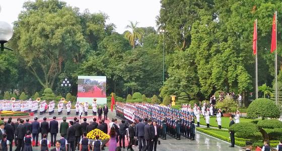 Lễ đón chính thức Tổng Bí thư, Chủ tịch nước Trung Quốc Tập Cận Bình ảnh 5