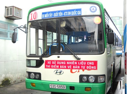 TPHCM: 21 xe buýt chạy khí nén thiên nhiên ảnh 1