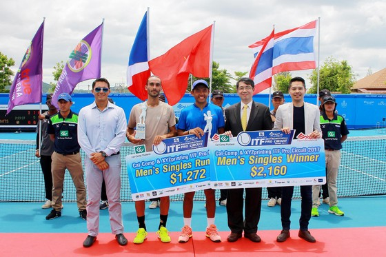 Lý  Hoàng Nam vô địch đơn giải Men's Futures F3 Thái Lan ảnh 3