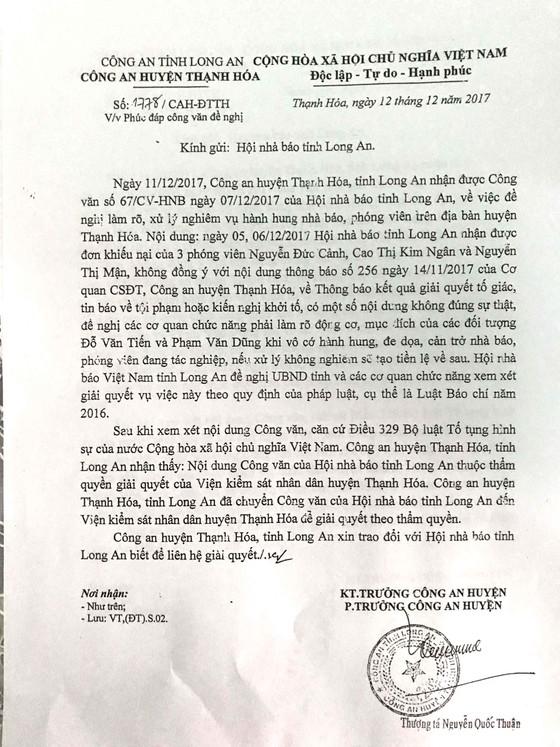 Vụ 3 nhà báo bị hành hung: Công an huyện Thạnh Hóa chuyền trách nhiệm sang Viện KSND huyện ảnh 1