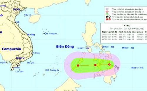 Áp thấp nhiệt đới hướng vào Nam biển Đông ảnh 1
