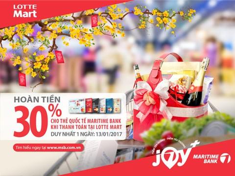 Hoàn tiền 30% tại Lotte Mart chủ thẻ Maritime Bank ảnh 1