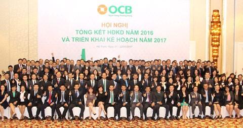 OCB: Hoàn thành vượt kế hoạch năm 2016 ảnh 1