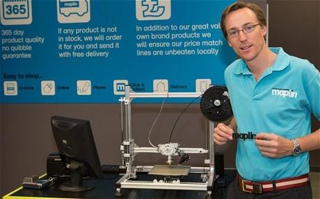 Maplin chào bán máy in 3D gia dụng ảnh 1