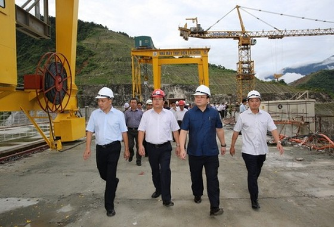 Cuối năm, thủy điện Lai Châu bắt đầu phát điện ảnh 1