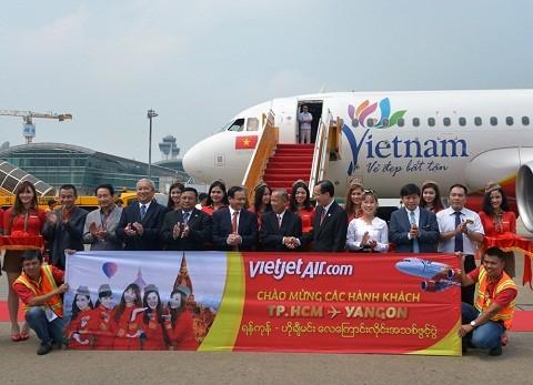 Vietjet khai trương đường bay TPHCM - Myanmar ảnh 1