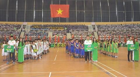 Khai mạc Giải bóng rổ Hội khỏe Phù Đổng TPHCM ảnh 1