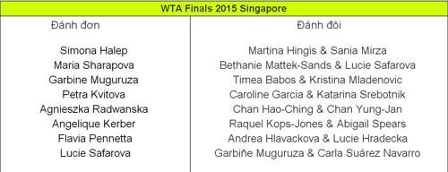 WTA Finals 2015 xác định 8 gương mặt tham dự ảnh 2