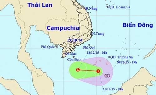 Áp thấp, biển Quảng Ngãi - Cà Mau gió cấp 7-8 ảnh 1
