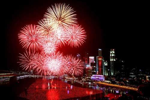 Châu Á rực sáng pháo hoa chào năm mới 2016 ảnh 2