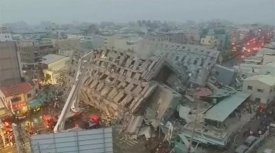 Đài Loan động đất 6,4 độ richter, đổ nhà 17 tầng ảnh 1