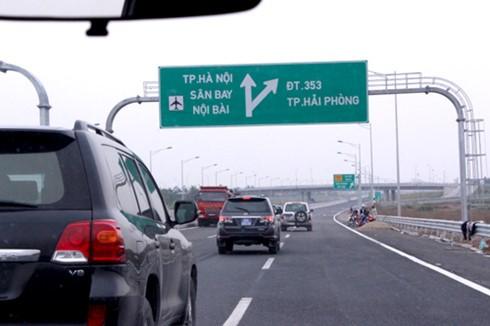 Phí cao tốc Hà Nội-Hải Phòng 840.000 đồng/lượt ảnh 1