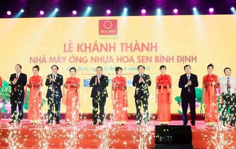 Hoa Sen khánh thành nhà máy ống nhựa Bình Định ảnh 1