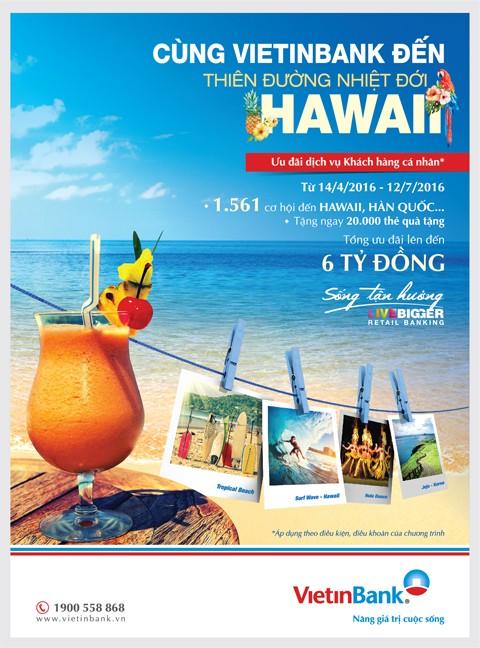 Du lịch Hawaii miễn phí cùng VietinBank ảnh 1