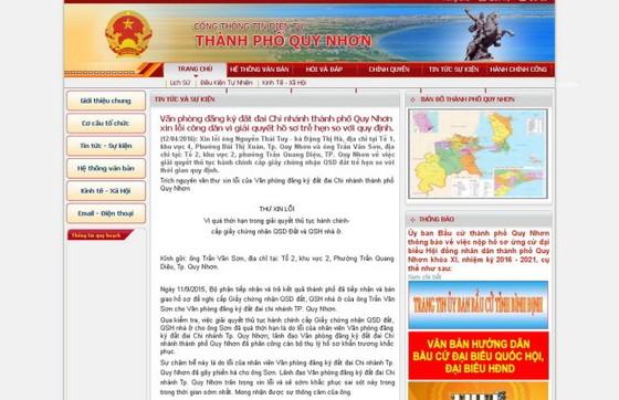 TP Quy Nhơn xin lỗi dân vì trễ giao sổ đỏ ảnh 1