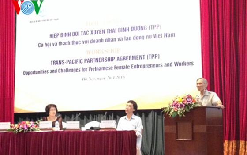 TPP - Cơ hội và thách thức với doanh nhân, lao động nữ ảnh 1