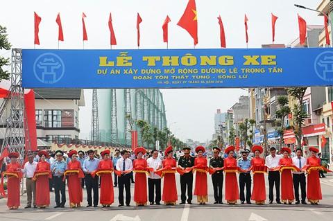 Thông xe tuyến đường Lê Trọng Tấn tại Hà Nội ảnh 1