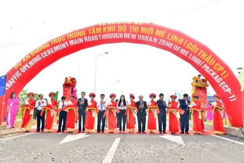 Thông xe đường nối Hà Nội-Vĩnh Phúc ảnh 1