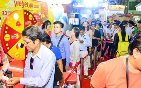 Vietjet nổi bật tại Hội chợ du lịch quốc tế TPHCM 2016 ảnh 7