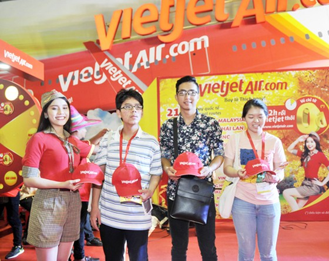 Vietjet nổi bật tại Hội chợ du lịch quốc tế TPHCM 2016 ảnh 9